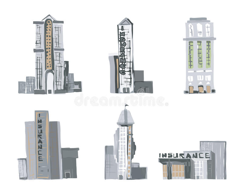 Edificios comerciales en Shenzhen stock de ilustración