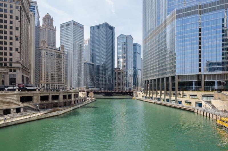 Edificios de Chicago imagenes de archivo