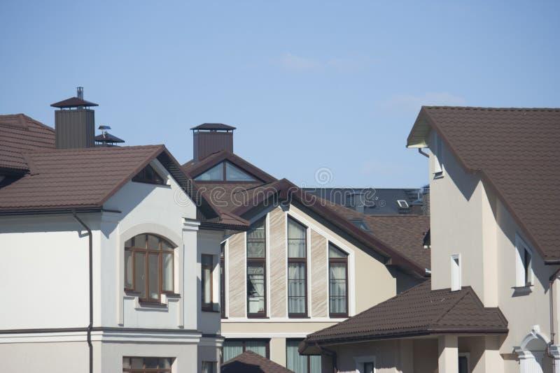 Edificios de cintura baja en la ciudad imagen de archivo libre de regalías