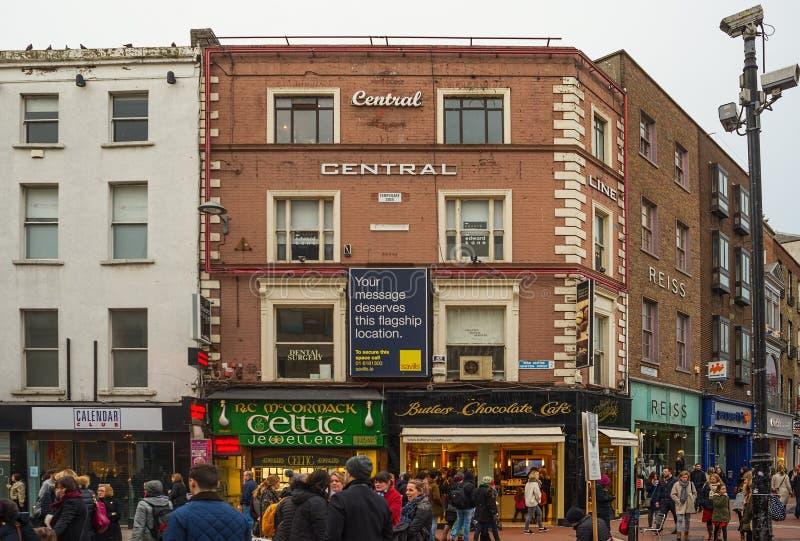 Edificios de Dublín fotografía de archivo
