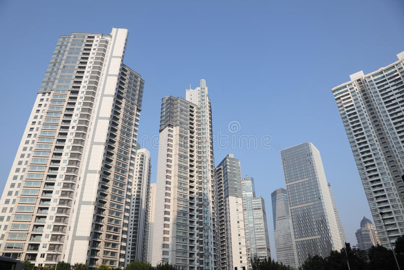 Edificios de Highrise en Shangai foto de archivo