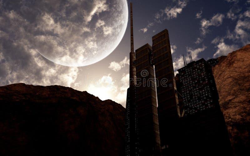 Edificios de la ciencia ficción libre illustration
