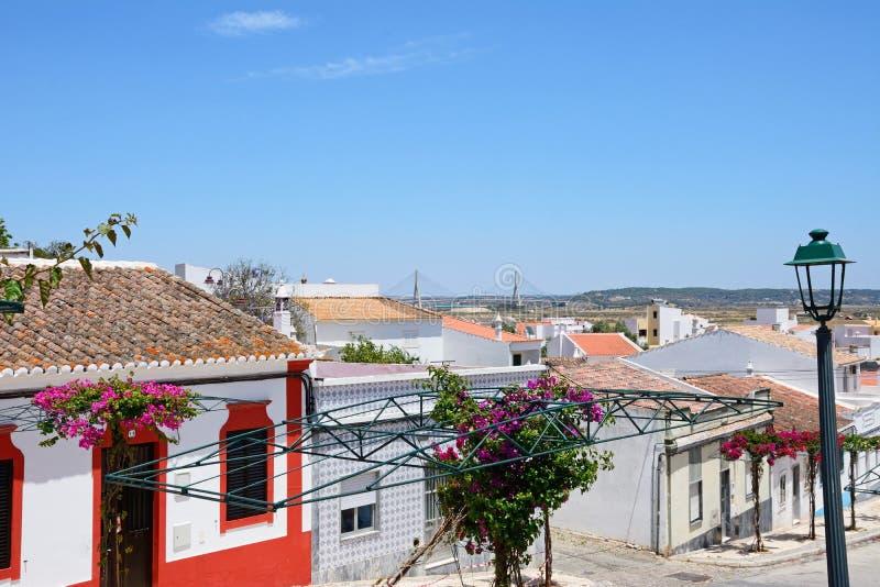 Edificios de la ciudad, Castro Marim fotografía de archivo