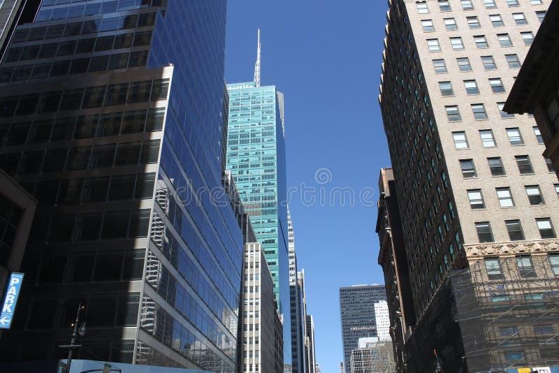 Edificios de la ciudad de NY imágenes de archivo libres de regalías