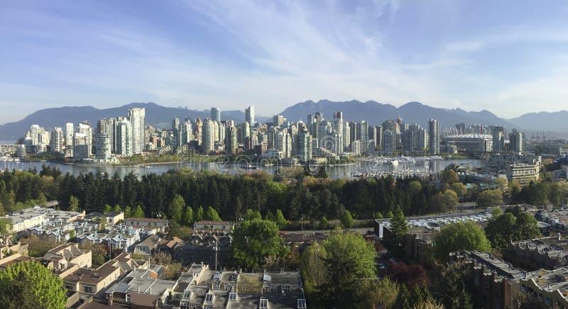 Edificios de la ciudad de Vancouver fotos de archivo