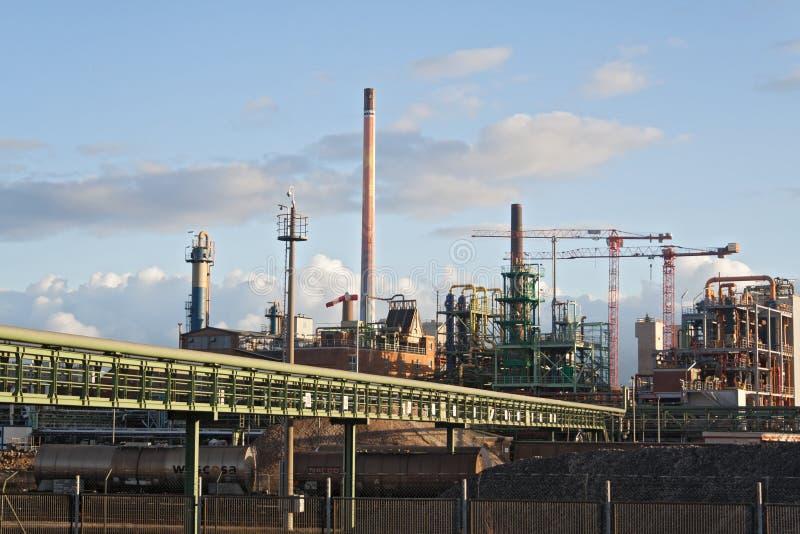 Edificios de la fábrica, Francfort-Hoechst fotos de archivo libres de regalías