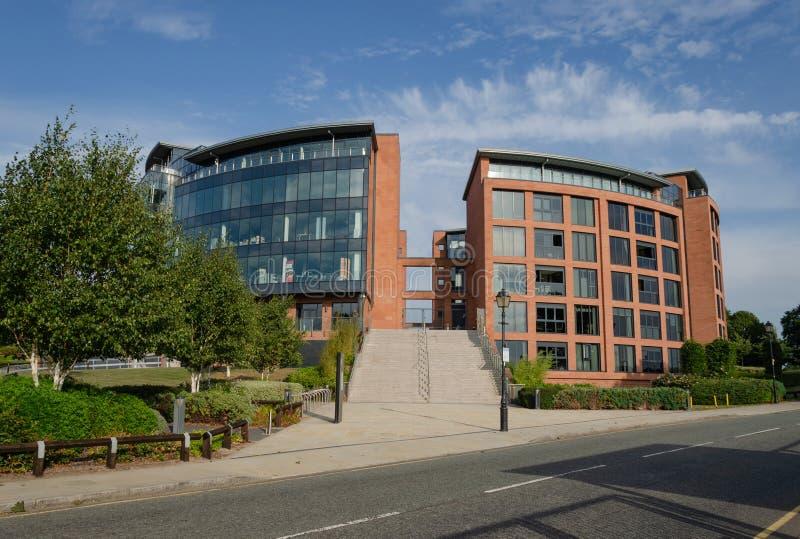 Edificios de la oficina y del alojamiento del HQ en Chester imagen de archivo libre de regalías