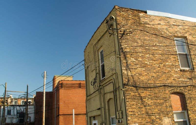 Edificios de ladrillo genéricos fotografía de archivo