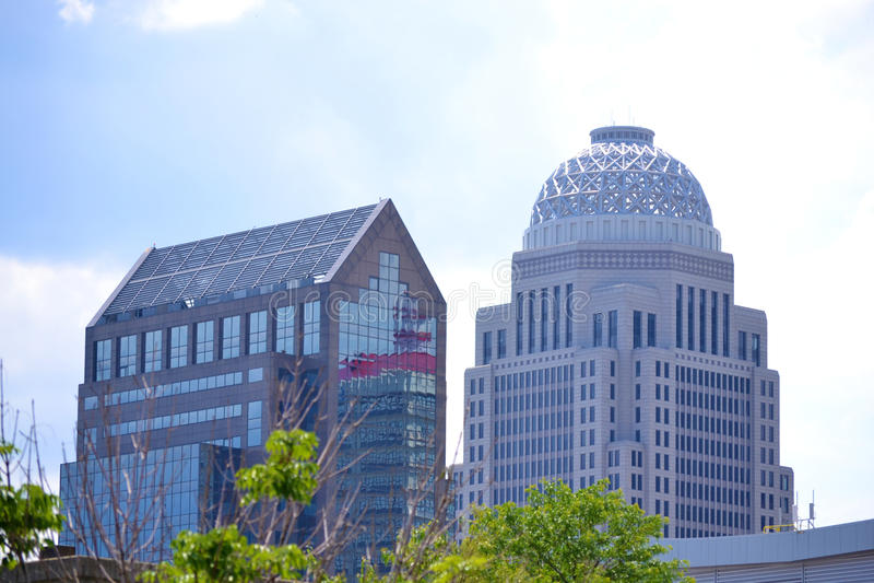 Edificios de Louisville, Kentucky foto de archivo libre de regalías