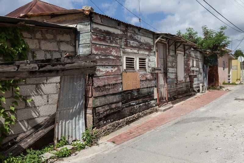 Edificios de madera de las calles traseras fotos de archivo