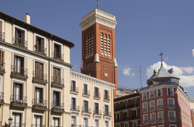 Edificios de Madrid en España fotos de archivo libres de regalías