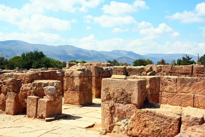 Edificios de Minoan en las ruinas de Malia imágenes de archivo libres de regalías