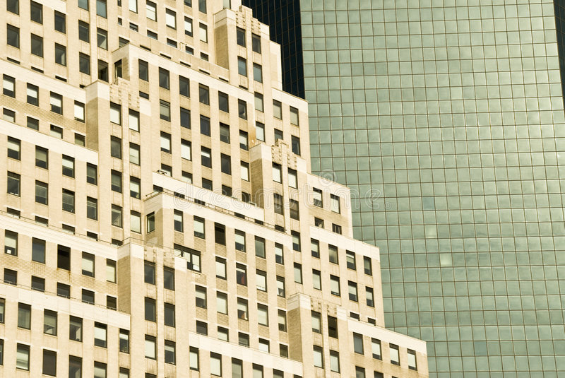 Edificios de New York City   imagen de archivo