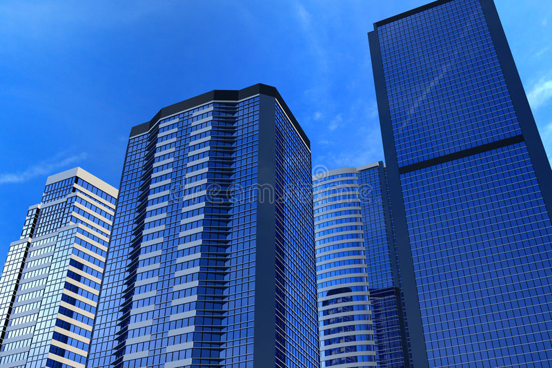 Edificios de oficinas stock de ilustración