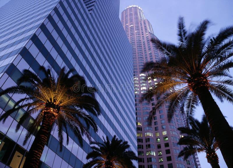 Edificios de oficinas céntricos de Los Ángeles fotos de archivo