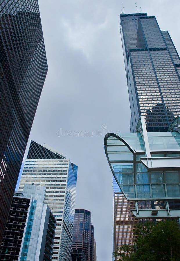 Edificios de oficinas de Chicago fotografía de archivo libre de regalías