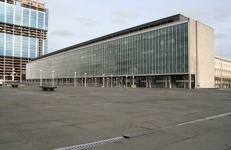 Edificios de oficinas de la UE en Bruselas, Bélgica imágenes de archivo libres de regalías