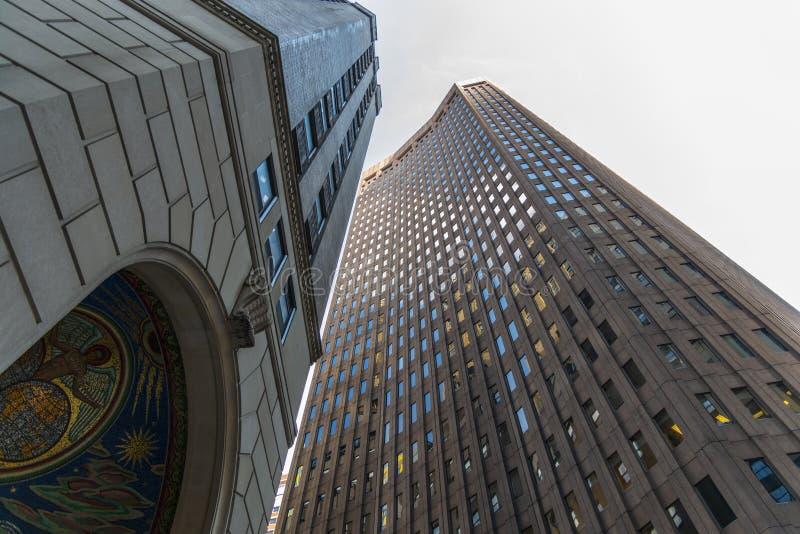 Edificios de oficinas del Lower Manhattan imagen de archivo