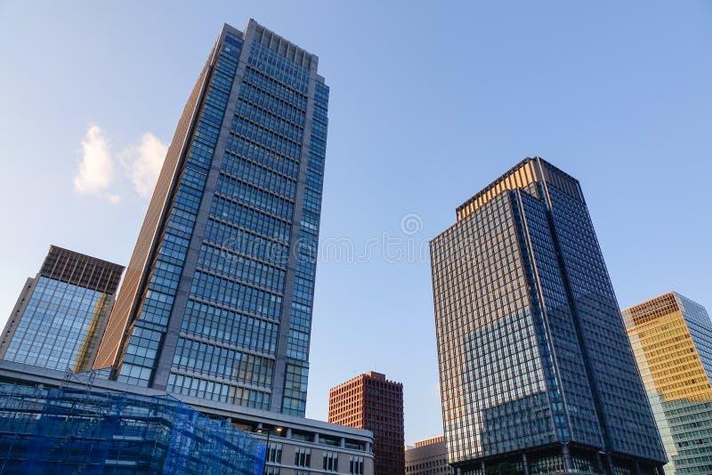 Edificios de oficinas en Nagoya, Japón foto de archivo libre de regalías