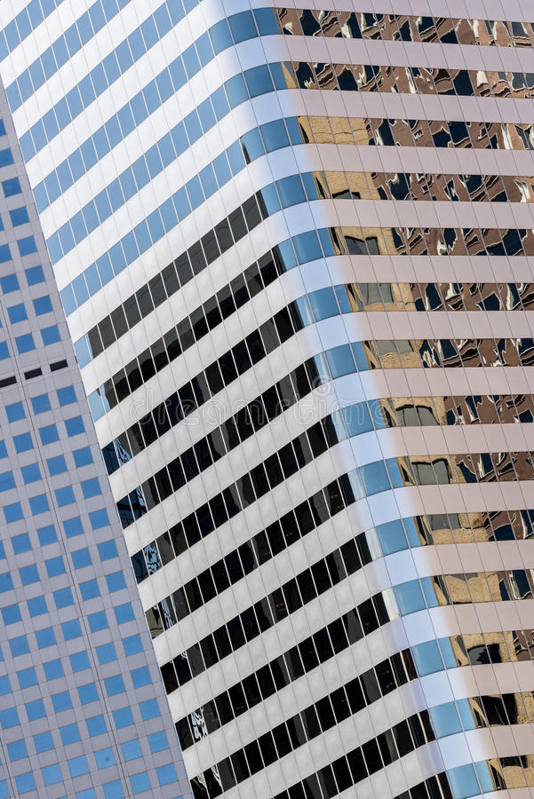 Edificios de oficinas modernos de ciudad en Denver Colorado fotos de archivo libres de regalías