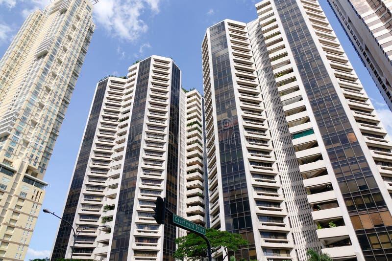 Edificios de Residental en el distrito de Tailandia en Bangkok, Tailandia foto de archivo