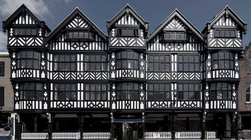 Edificios de Tudor fotografía de archivo