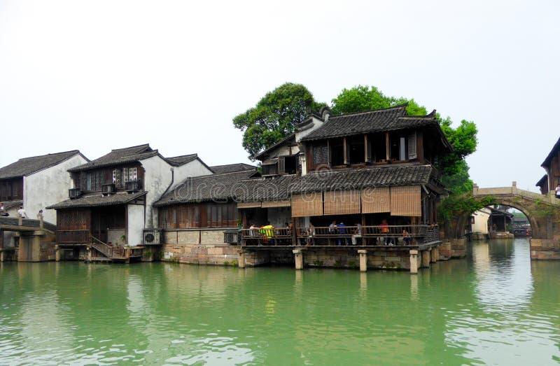 Edificios de Wuzhen fotografía de archivo