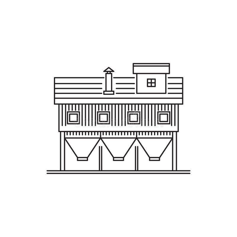 Edificios del icono del granero stock de ilustración