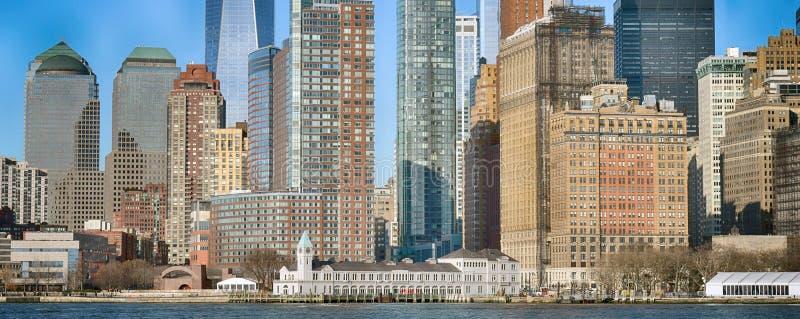 Edificios del Lower Manhattan imágenes de archivo libres de regalías