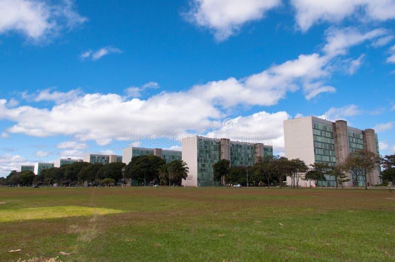 Edificios del ministerio del gobierno del Brasil fotos de archivo