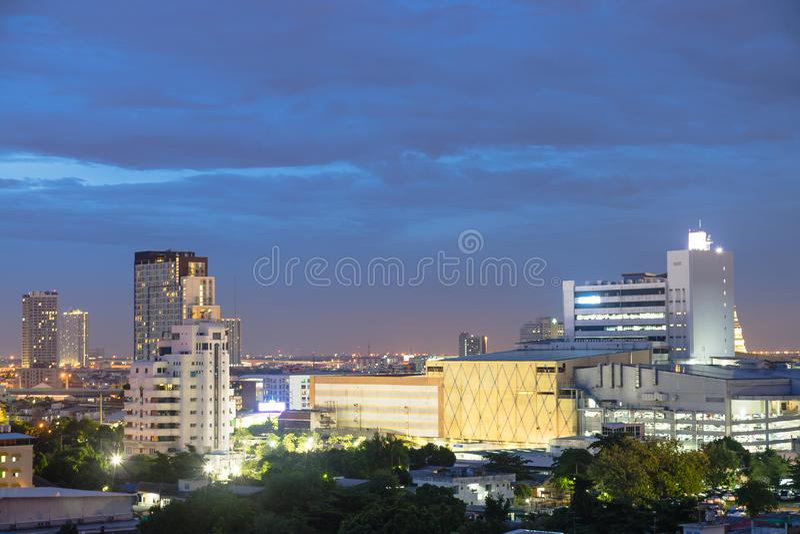 Edificios en Bangkok fotografía de archivo