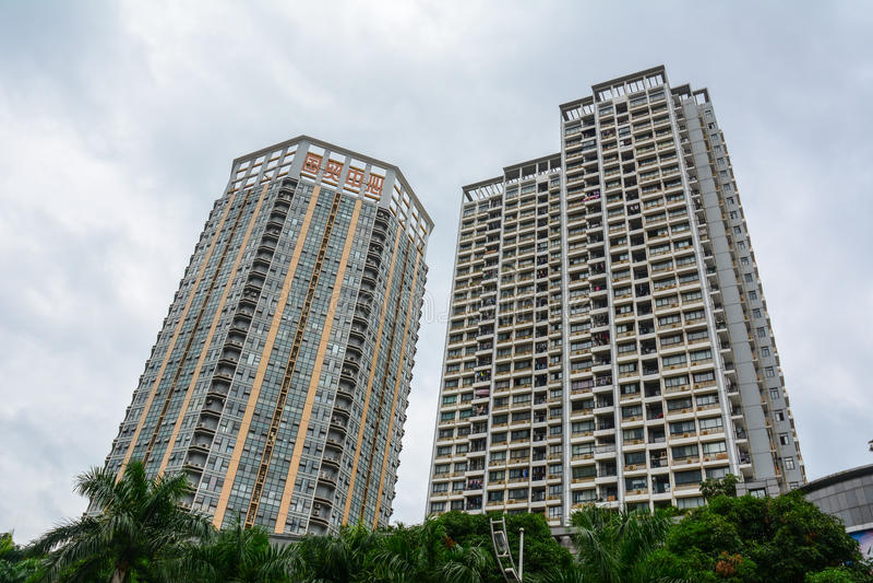 Edificios en Bangkok, Tailandia fotografía de archivo libre de regalías