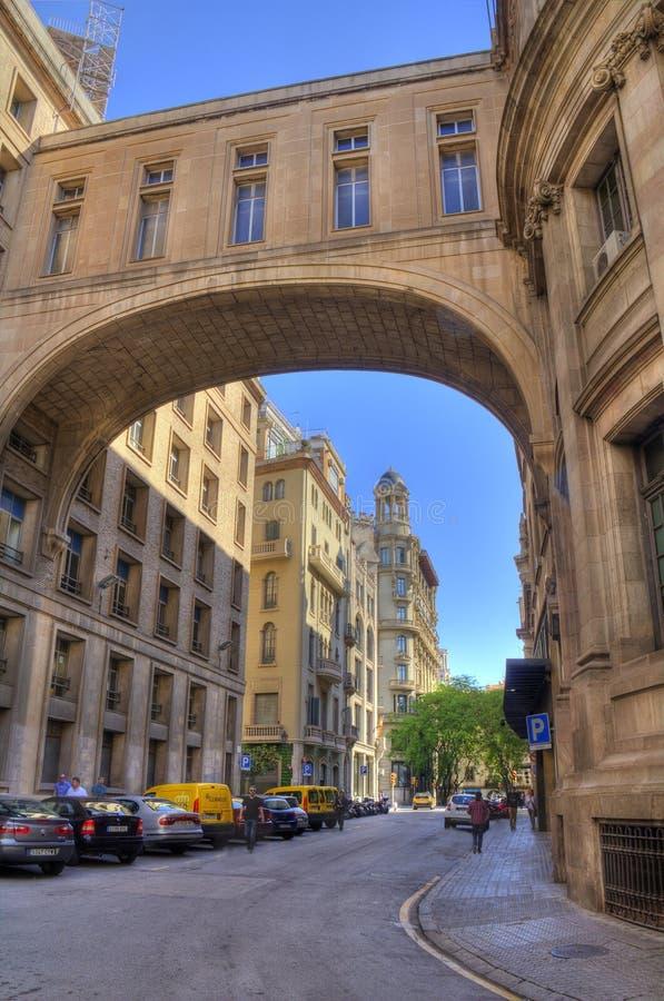 Edificios en Barcelona, España fotografía de archivo