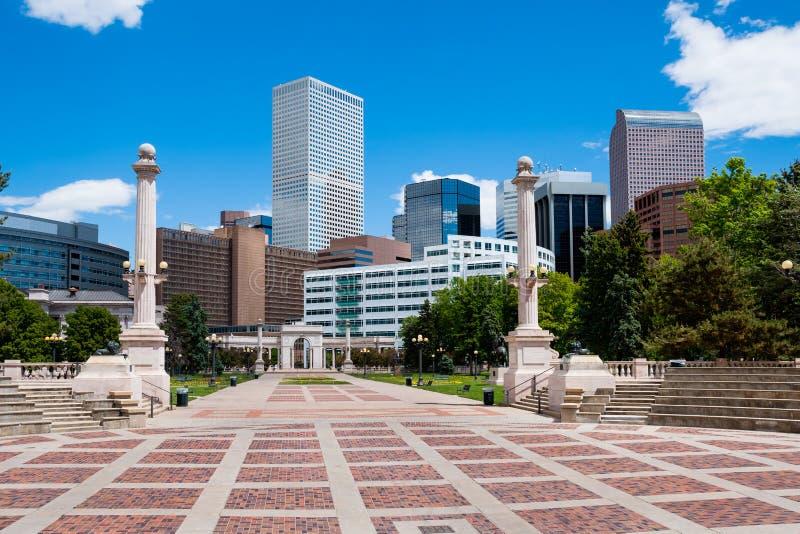 Edificios en Denver céntrica fotos de archivo