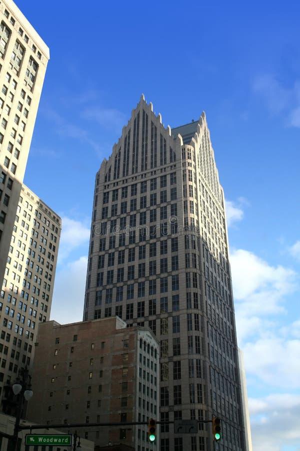 Edificios en Detroit céntrica fotografía de archivo