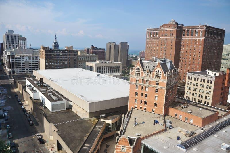 Edificios en el búfalo céntrico, Nueva York imagen de archivo