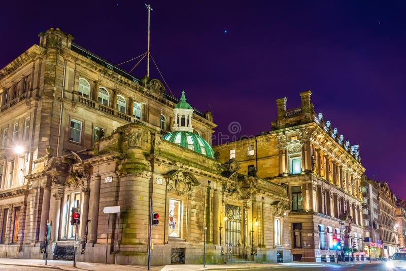 Edificios en Ingram Street en Glasgow imagen de archivo libre de regalías