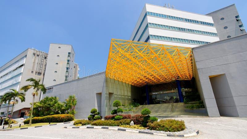 Edificios en la universidad nacional de Singapur fotos de archivo