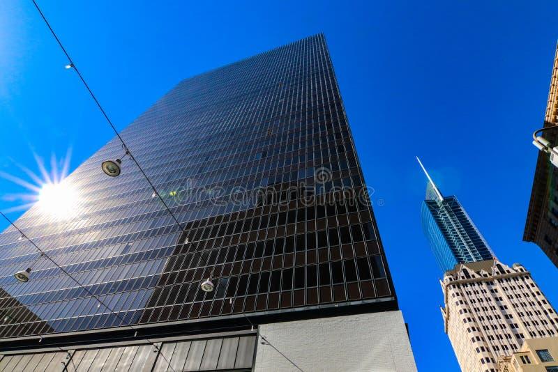 Edificios en Los Ángeles céntrico EE.UU. imágenes de archivo libres de regalías