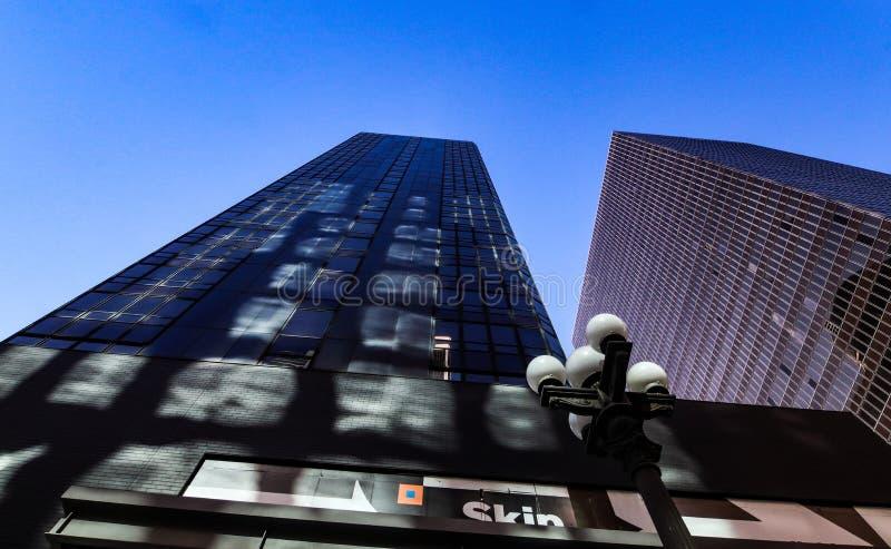 Edificios en Los Ángeles céntrico EE.UU. fotos de archivo libres de regalías