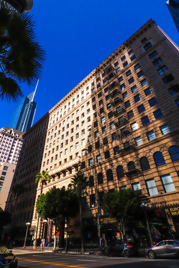 Edificios en Los Ángeles céntrico EE.UU. fotografía de archivo libre de regalías