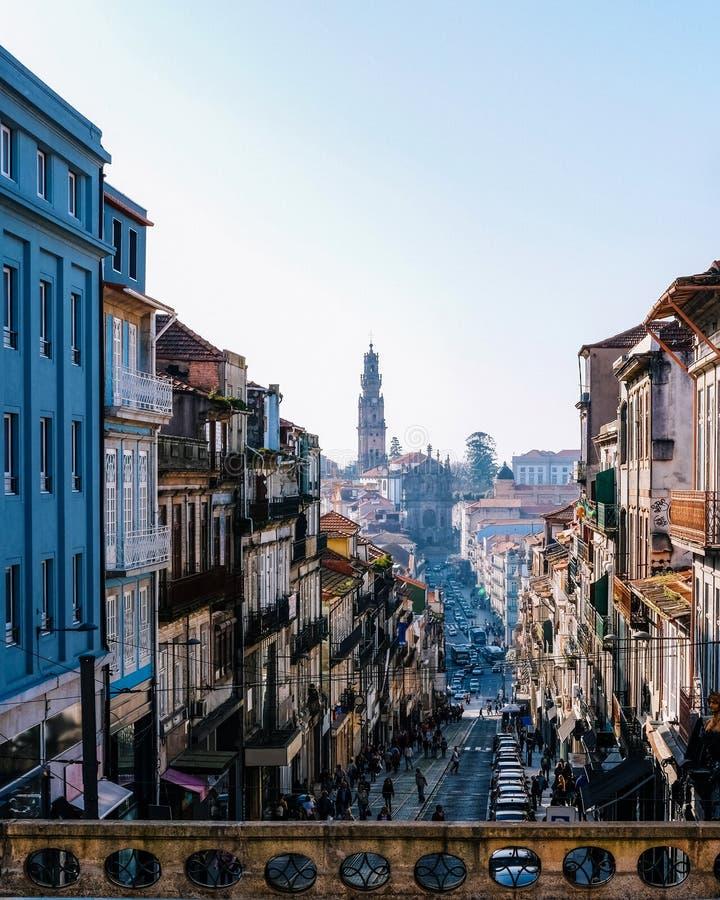Edificios en Oporto Portugal fotos de archivo