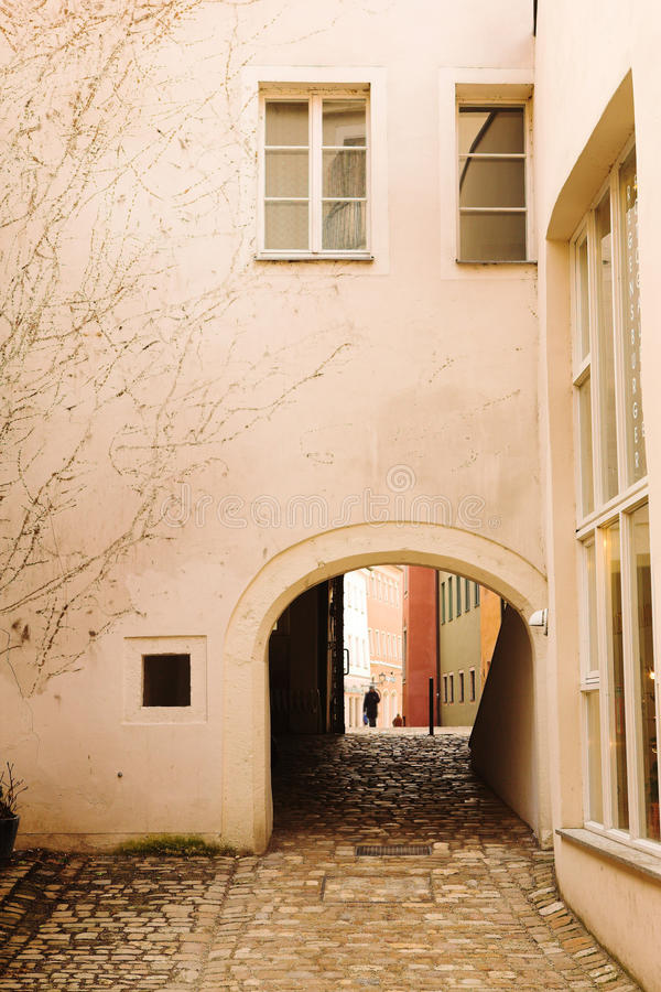 Edificios en Regensburg imágenes de archivo libres de regalías