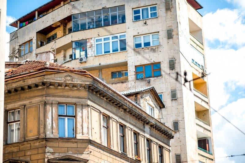 Edificios en Sarajevo foto de archivo libre de regalías