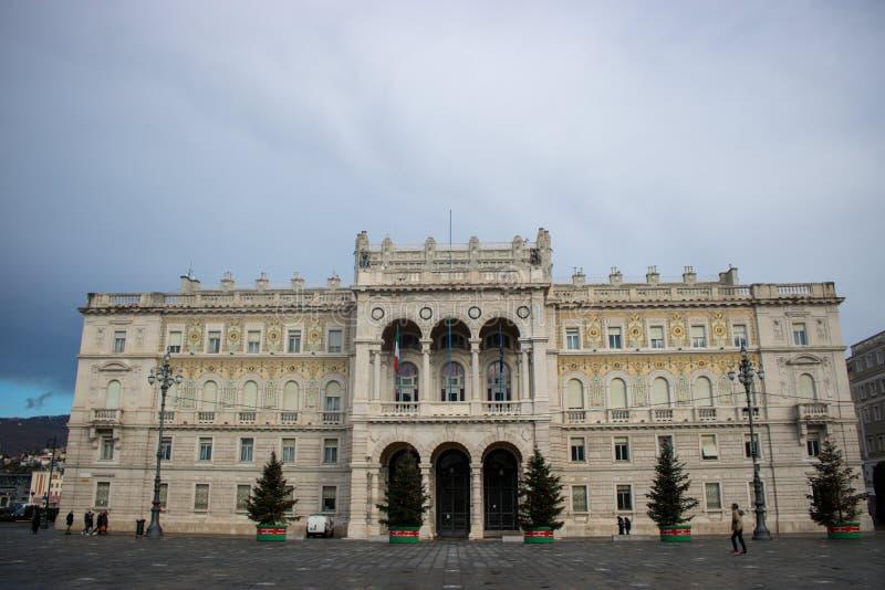 Edificios en Trieste, Italia imagenes de archivo