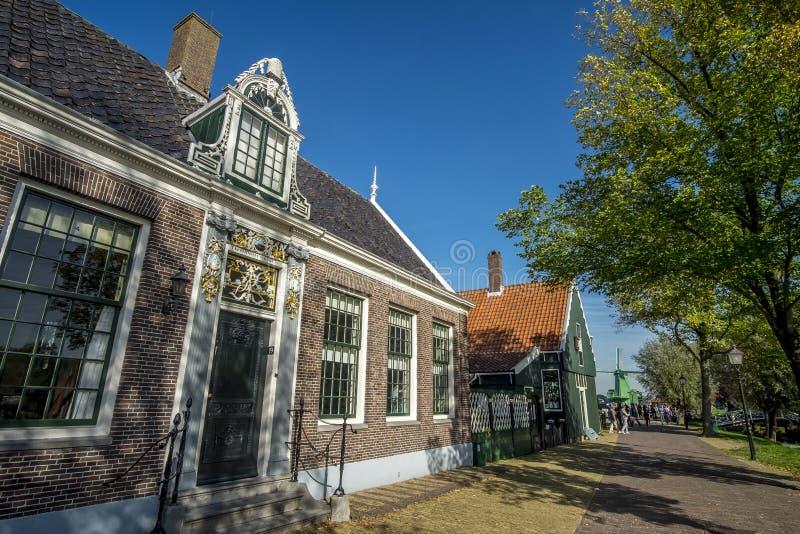 Edificios en Zaanse Schans, Países Bajos fotografía de archivo libre de regalías