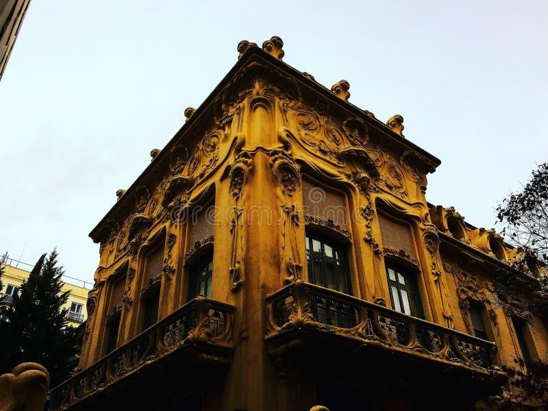 Edificios encantadores en Madrid imagen de archivo libre de regalías