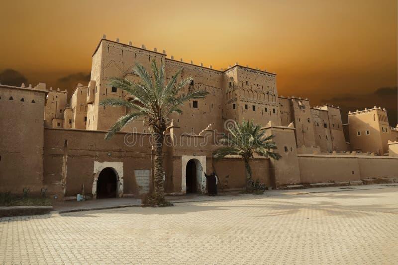 Edificios exteriores de Kasbah Taourirt imagen de archivo libre de regalías