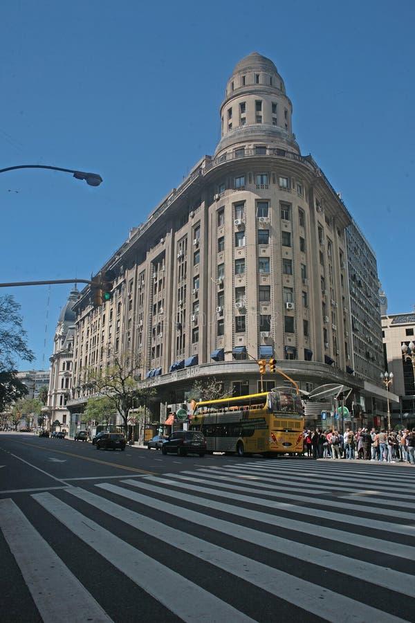 Edificios famosos de Buenos Aires imagen de archivo libre de regalías