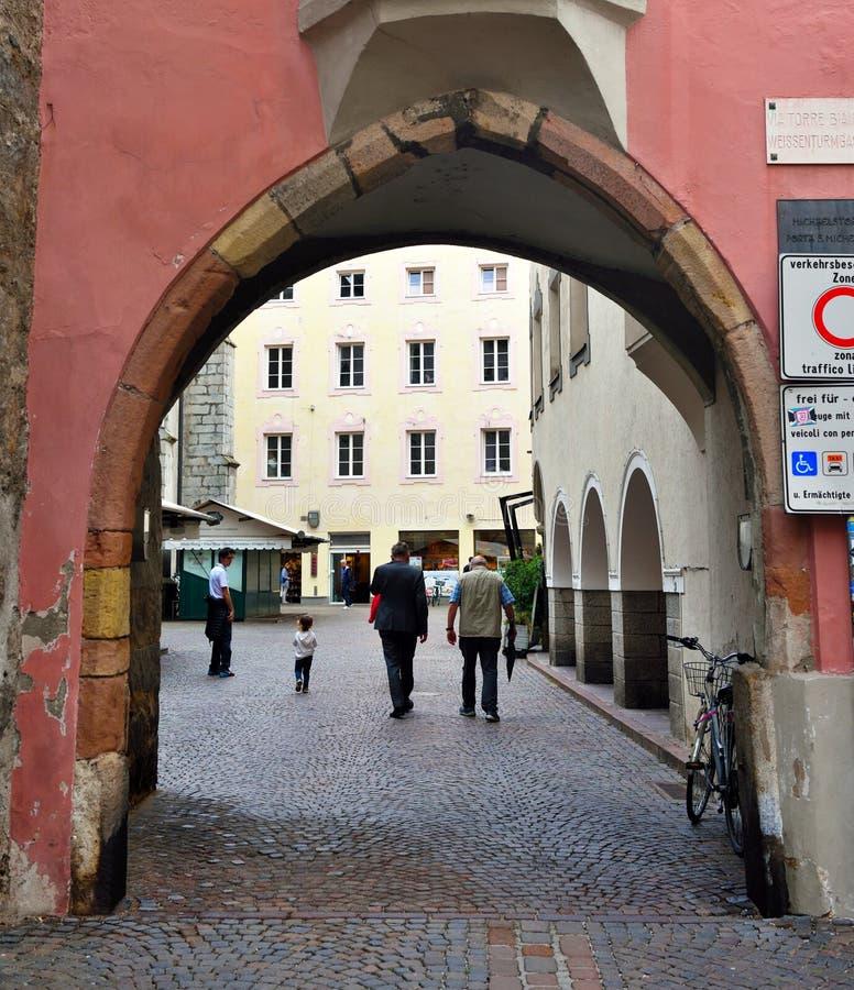 Edificios históricos Bressanone Italia fotografía de archivo